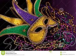 mardi gras royalty mardi gras mask and on a purple background stock photo