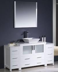 White Bathroom Vanity With Vessel Sink Fresca Torino 60
