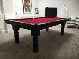 8ft pool dining table in black red pool table