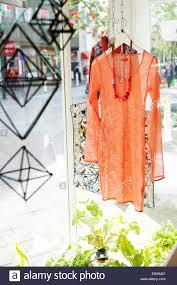 icelandic fashion in kiosk on laugavegur shopping street in stock