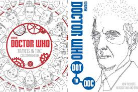 doctor release colouring dot dot books radio times
