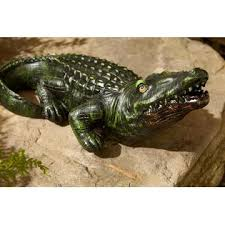 decorative alligator statuary limited availability outdoor