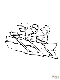 14 kids coloring pages rowing print color craft