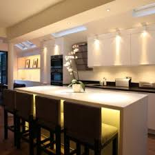Led Lighting For Kitchen by Splendid Modern Lighting For Kitchen With Rectangle Shape Clear