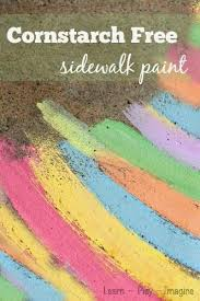 25 unique sidewalk chalk paint ideas on pinterest cornstarch