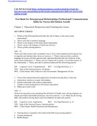 test bank for interpersonal relationships professional