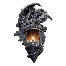 Shop Wall Sconces At Lowes by Shop Design Toscano Dragon U0027s Castle Lair 12 In W 1 Light Gothic