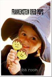 halloween snacks treats frankenstein pops