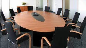 Extendable Meeting Table Circon S Class Elliptical Conference Table Black Painted