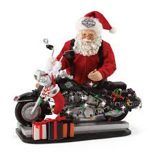 department 56 possible dreams santa harley davidson light up the