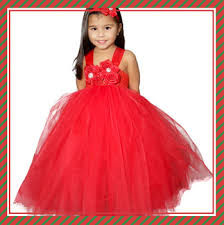 2018 Baby Girls Party Wear Dresses Kid Girls Party Red Tutu