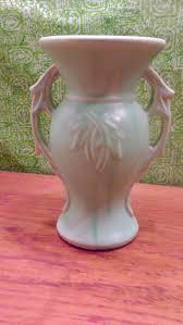 Mccoy Vase Value Vintage Baby Blue Mccoy Vase Large Mccoy Pottery Vase Mccoy