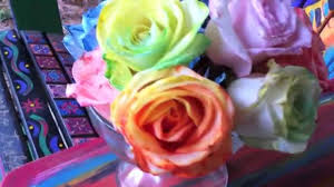 tie dye roses how to tie dye roses diy rainbow roses and flowers