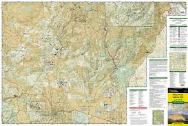 Colorado Springs Zip Code Map by Pikes Peak Canon City National Geographic Trails Illustrated Map