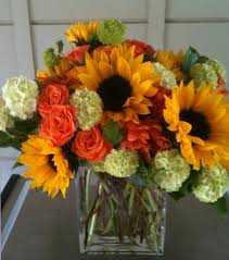 sunflower arrangements flower arrangements from green floral marin county fairfax ca