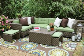 Wicker Patio Furniture Cushions Furniture Organization Comfortable Wincker Sectional Sofa With