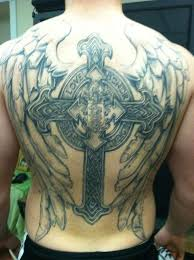 25 glorious cross with wings designs slodive