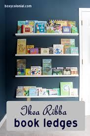 ikea ribba book ledges for abe u0027s new nursery