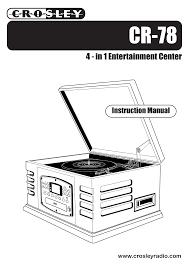 crosley cr 78 user u0027s manual