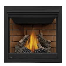 shop continental 35 in direct vent black natural gas fireplace at