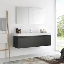 60 Inch Bathroom Vanity Single Sink by Moreno Mob 60 Inch Single Sink Wall Mounted Modern Bathroom Vanity