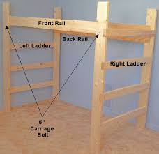 2x4 Bunk Beds Wooden College Loft Bed Assembly More Then A