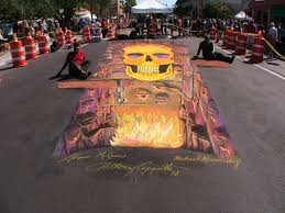 art for after hours 3d street painting chalk festival consulting