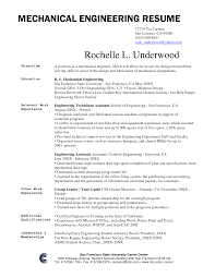 Sample Engineering Resumes by Mechanical Engineering Resume Examples Free Resume Example And