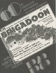 ann arbor civic theatre program brigadoon april 18 1990 ann