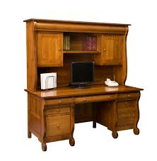 Wooden Computer Desk With Hutch by Desks Page 1 Amish Furniture Gallery In Lockport Il