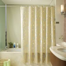 Brown And Gold Shower Curtains Luxury Gold Shower Curtain Of Leaf Patterns