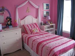 pink and purple girls bedding pink striped bedding set and white wooden bedside table connected