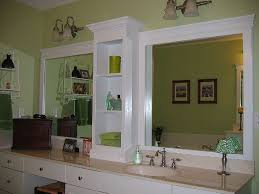 How To Make A Bathroom Mirror Frame Bathroom Bathroom Cool Frames For Mirror Design Ideas Modern