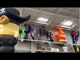 Blow Up Christmas Decorations At Lowes by Lowe U0027s Halloween Inflatables 2015 Youtube
