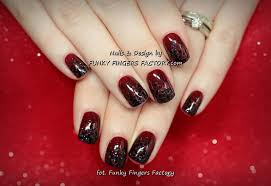 burgundy nails funky fingers factory