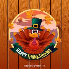 happy thanksgiving background with turkey vector free
