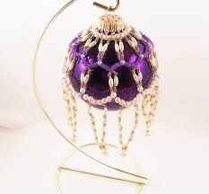 pearl ornament cover pattern beading tutorial in pdf