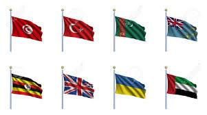 Uganda Flag Colours World Flag Set 24 Tunisia Turkey Turkmenistan Tuvalu Uganda