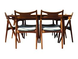 Dining Table And Six Chairs Machine Age U2013 New England U0027s Largest Selection Of Mid 20th Century
