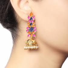 jhumka earrings traditional enamel jhumka earrings lovethisstuff
