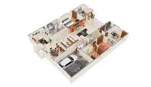 Studio Apartment 3d Floor Plans Gorgeous Floor Plan Design Studio 15 3d Plans On Modern Decor