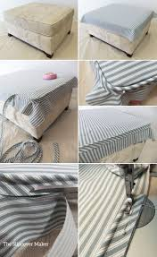 have you ever made an ottoman slipcover and fit too small