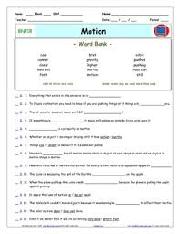 motion worksheets worksheets