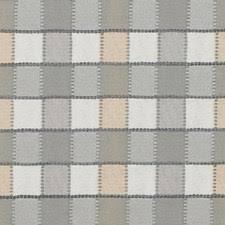 Geometric Drapery Fabric Grey Check Drapery Fabric