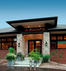 modern prairie style prairie style home contemporary entrance detroit by