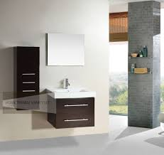 28 inch single wall mount bathroom vanity cabinet with linen