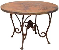 Hammered Copper Dining Table Pueblo Viejo Imports