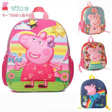 peppa pig cartoon children kindergarten bag backpack