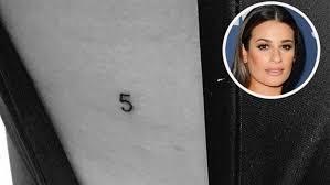 lea michele gets tattoo to honour cory monteith yahoo7 be