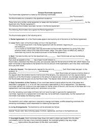 Contract Templates Free Word Templates 40 Free Roommate Agreement Templates Forms Word Pdf